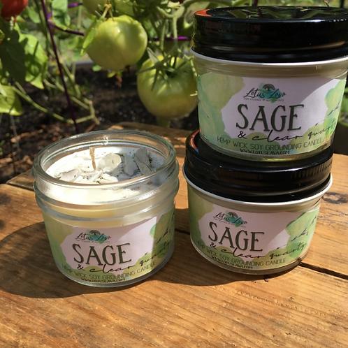 Quartz & Sage Crystal Soy Candle