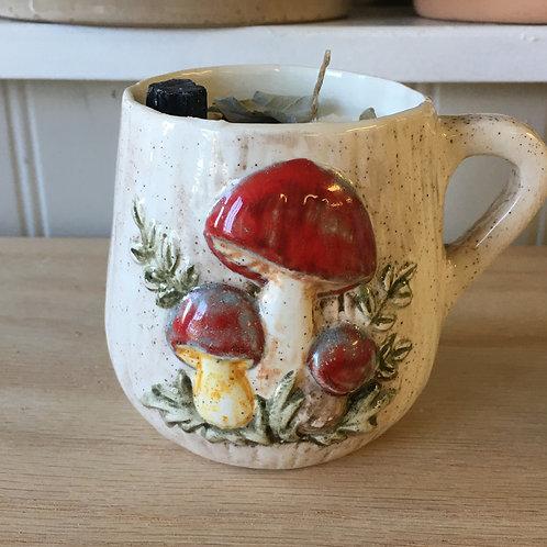 Palo Santo & Sage Mushroom Mug Soy Candle
