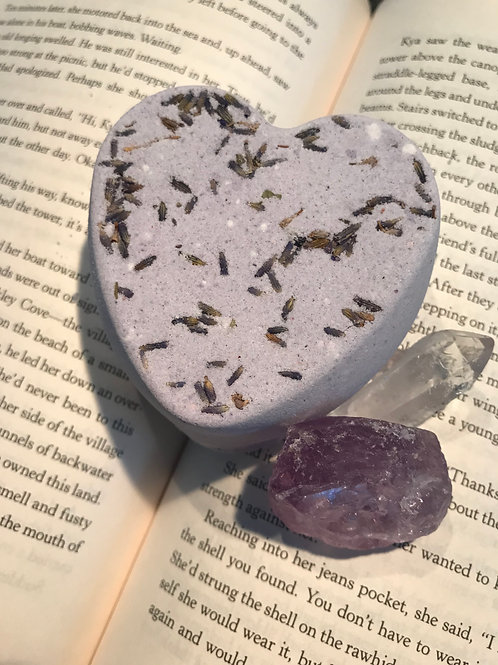 Lavender Heart Bathbombs