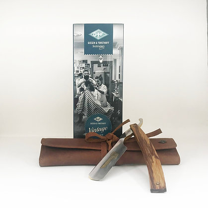 Straight Razor - Stainless Steel & Wood