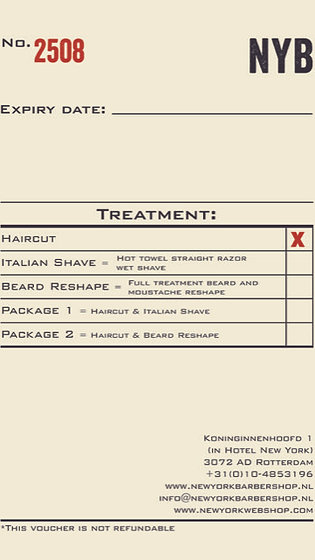 Gift Voucher Haircut