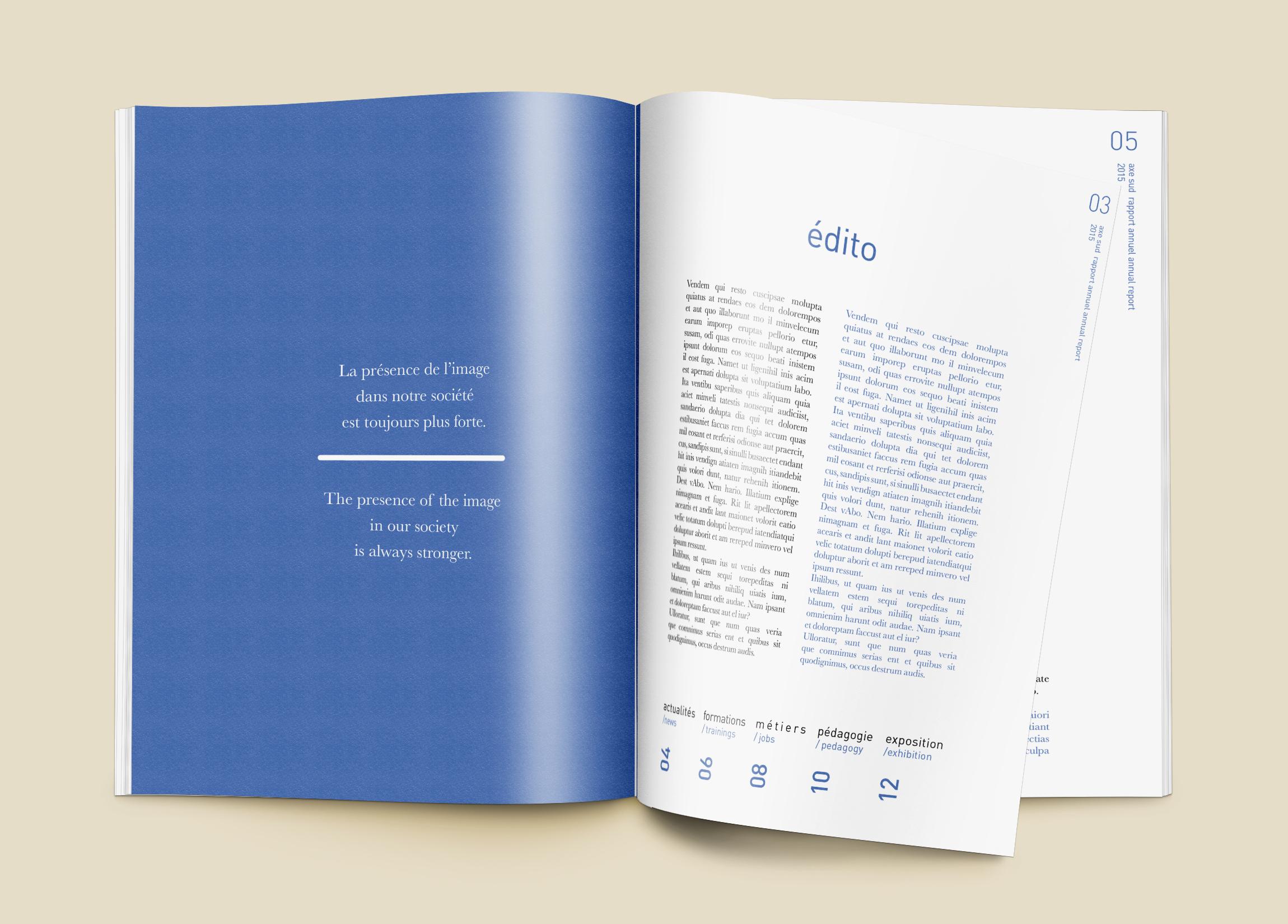 Mise en page - Rapport annuel