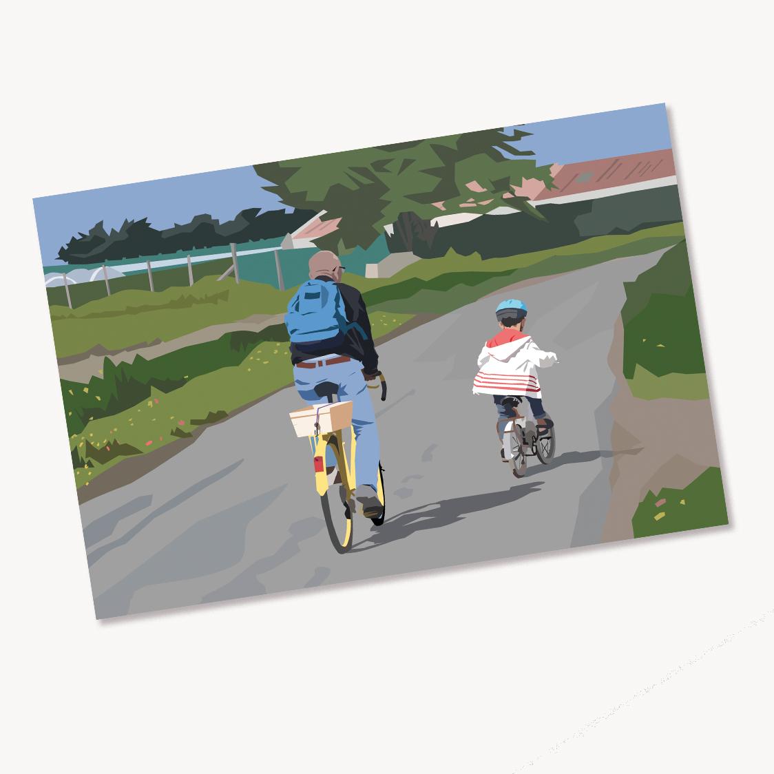 12 - Vélo jaune et petit vélo