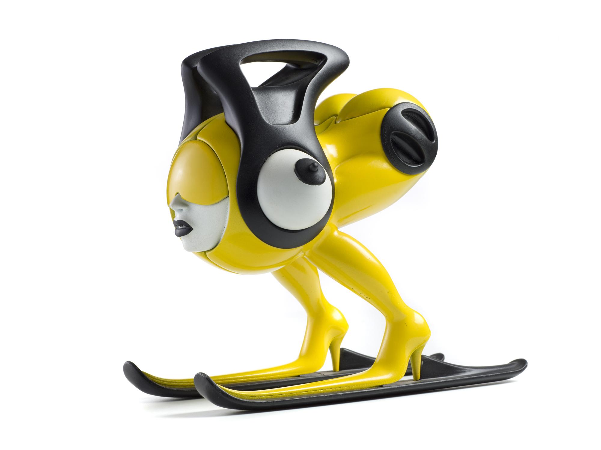 skigirl yellow