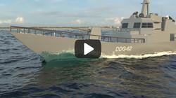 Battleship in Ocean