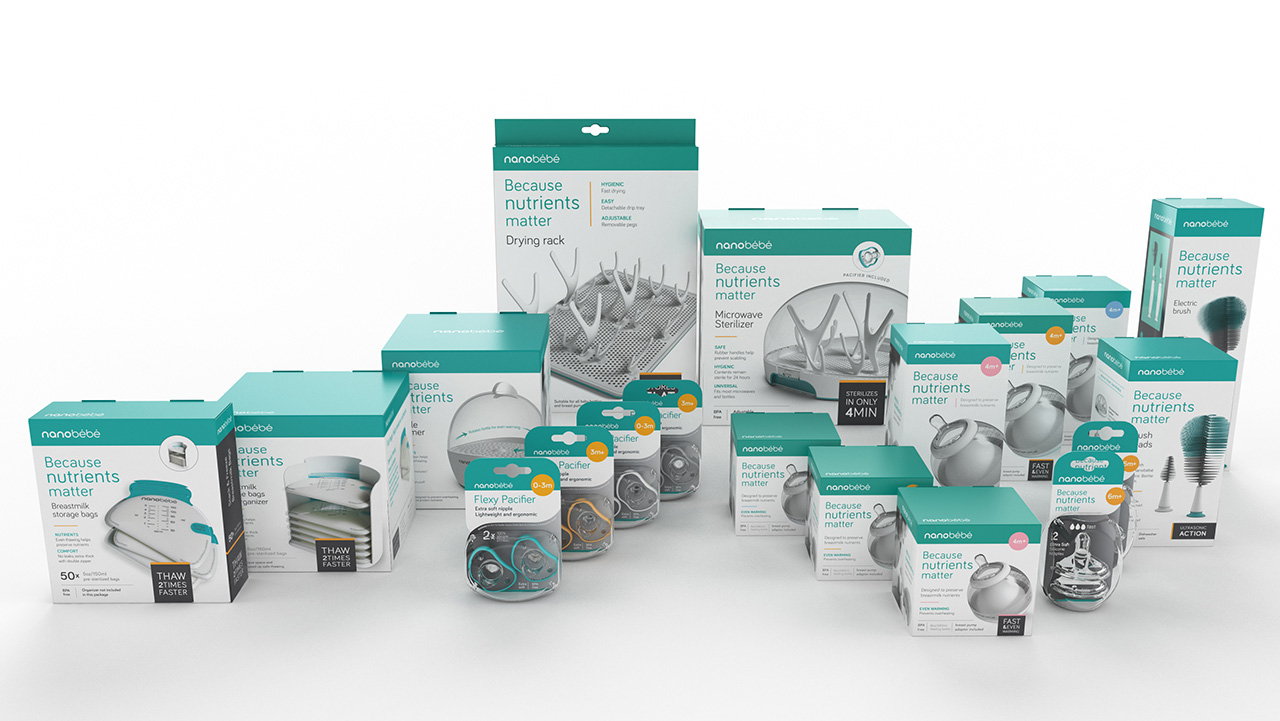 NanoBebe line of products packages