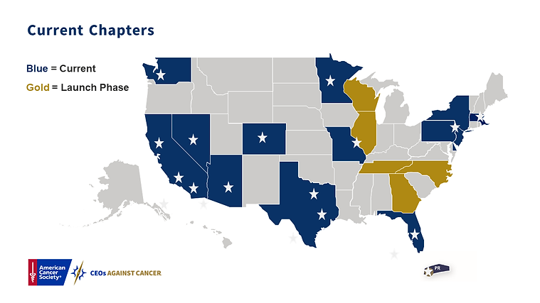 CEOs Against Cancer Chapter Map.png