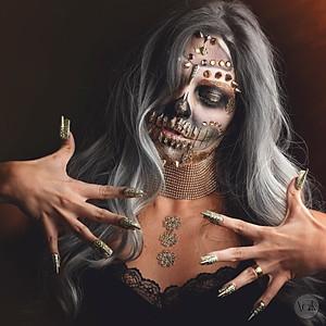 Halloween makeup caveira - By Juliana Rossa