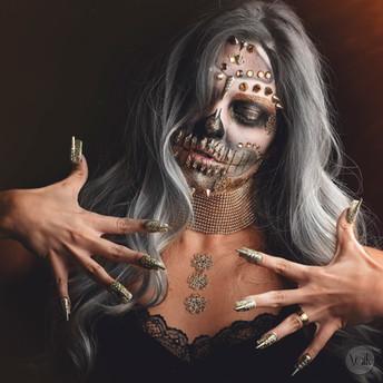 Makeup de Caveira- Julliana Rosa