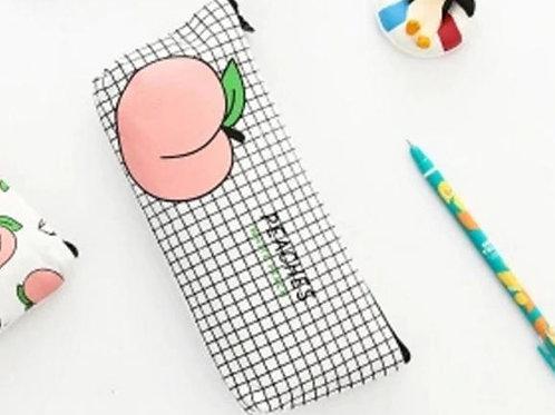 fruit peach pencil cazse