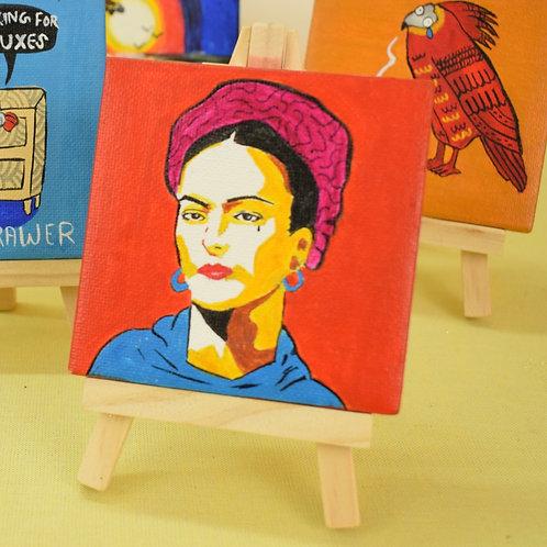 Frida Kahlo miniature canvas