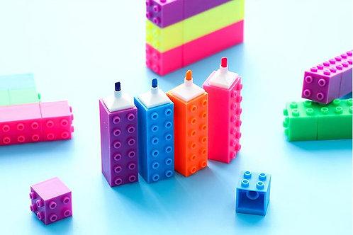 6pcs/set building block highlighters