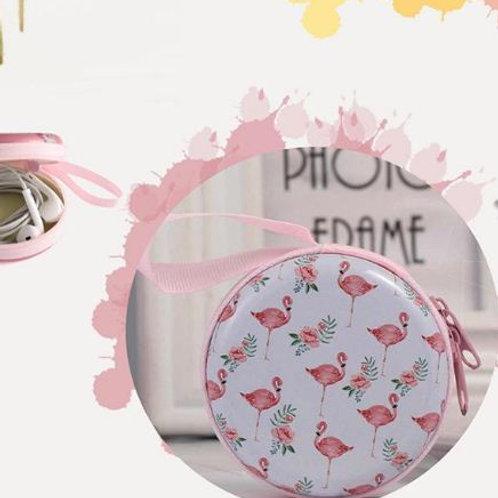 Flamingo earphone case