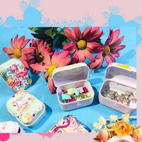 Mini Tin boxes(cactus,flamingo)