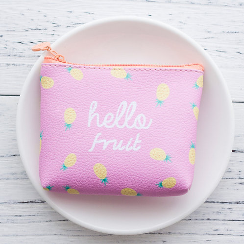 Hello fruit coin pouch