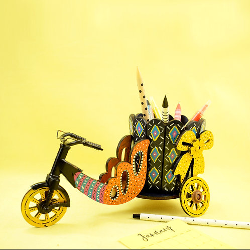 Wooden Hand Painted Pencil Holder