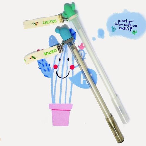 Cacti twill tape gel pen