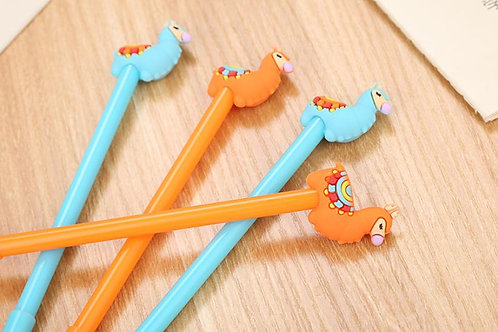 Cute lama gel pens