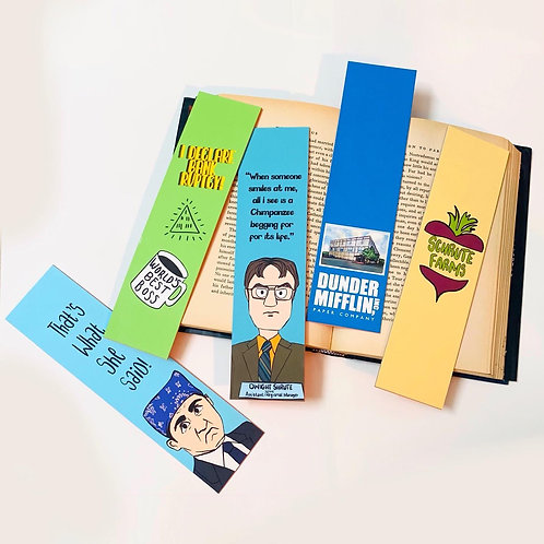 The Office bookmark set