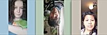 trois portraits téléphoniques d'abonnés sur instagram