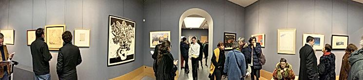Photo panoramique de la Galerie Descours, exposition singuliers multiples