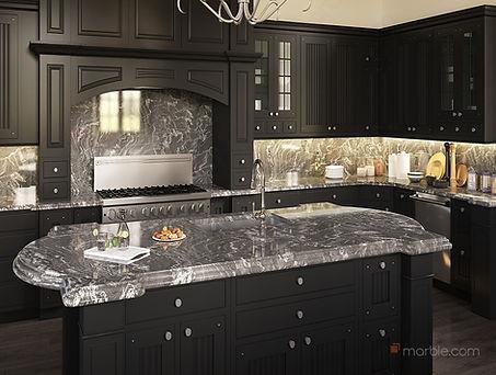 Black Kitchen with Oscuro Mist Countertop.jpg