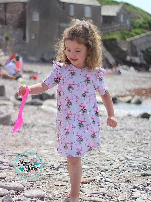 Tunic dress, Long/short Sleeve (Flutters)
