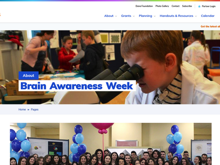 Its Brain Awareness Week (15th - 21st March 2021)