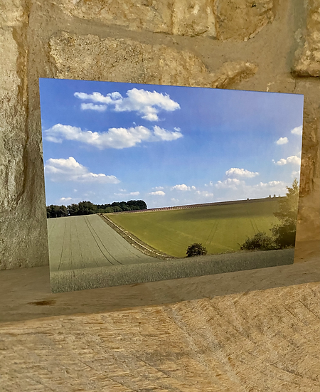 A card showing a landscape image of a field in Swell