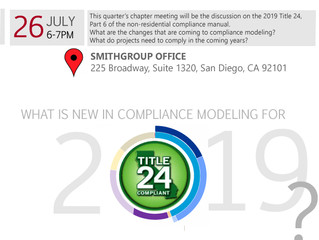 Chapter 10 Meeting: What's New in Compliance Modeling under Title 24, 2019?