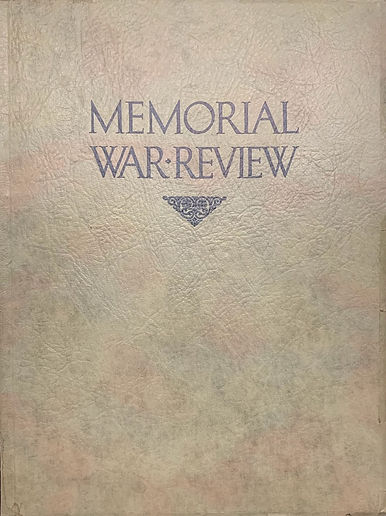 Memorial War Review booklet