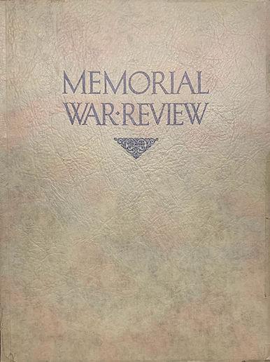 Memorial War Review booklet