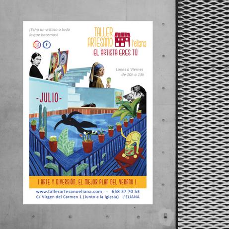 Sonia Sanmartín Ilustración Cartelería Diseño Gráfico Collage Taller Artesano