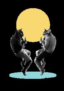 Sonia Sanmartin Ilustración Collage Gato