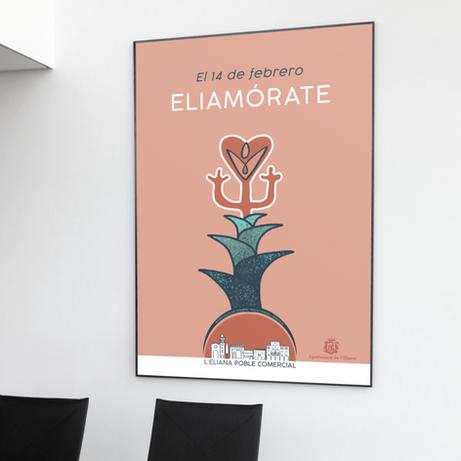 Sonia Sanmartín Ilustración Cartelería Diseño Gráfico L'Eliana Poble Comercial Eliamorate
