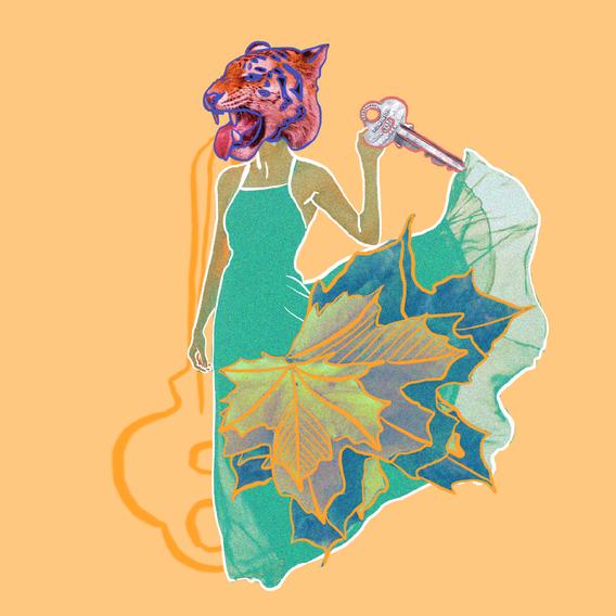 Sonia Sanmartín Ilustración Editorial Collage Digital Vacaciones Tigre