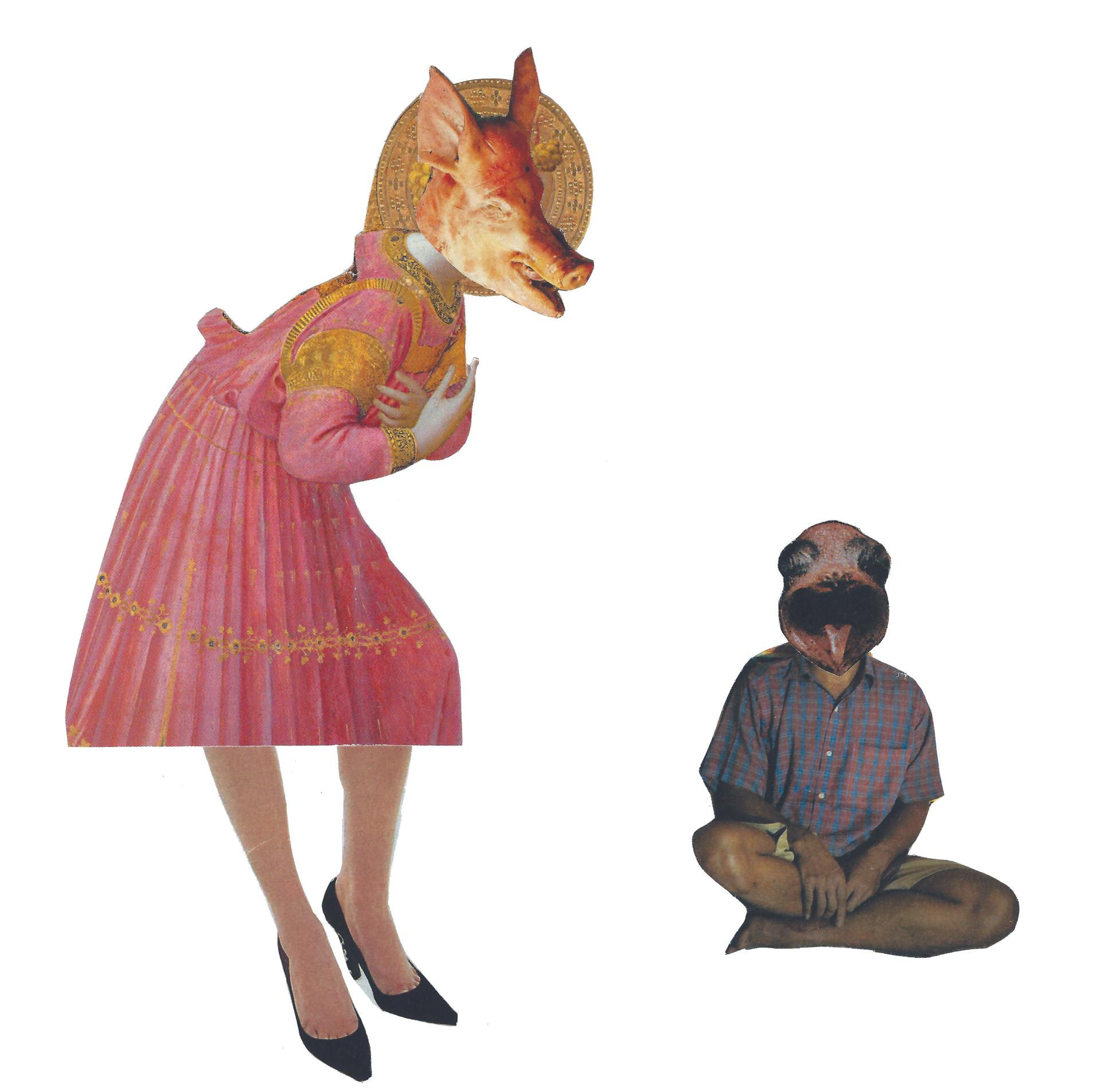 Sonia Sanmartín Ilustración Editorial Collage Animales personas