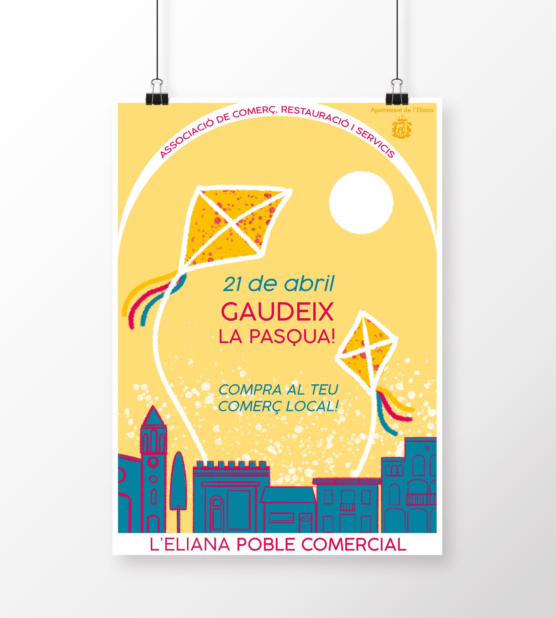 Sonia Sanmartín Ilustración Cartelería Diseño Gráfico L'Eliana Poble Comercial Pascua