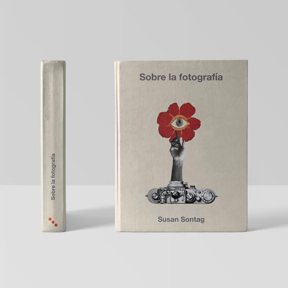 Sonia Sanmartín Ilustración Editorial Collage Digital Susan Sontag Camara Flor