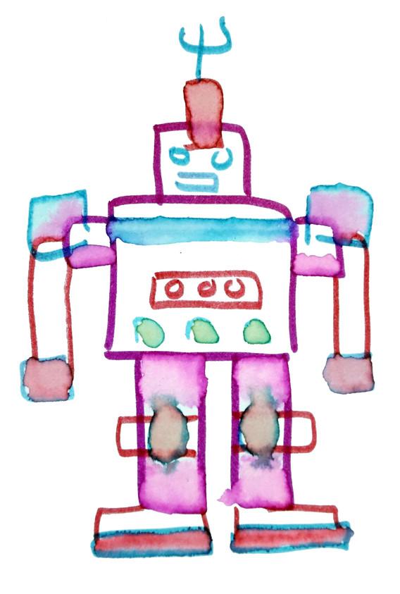Sonia Sanmartín Ilustración Robot Digital