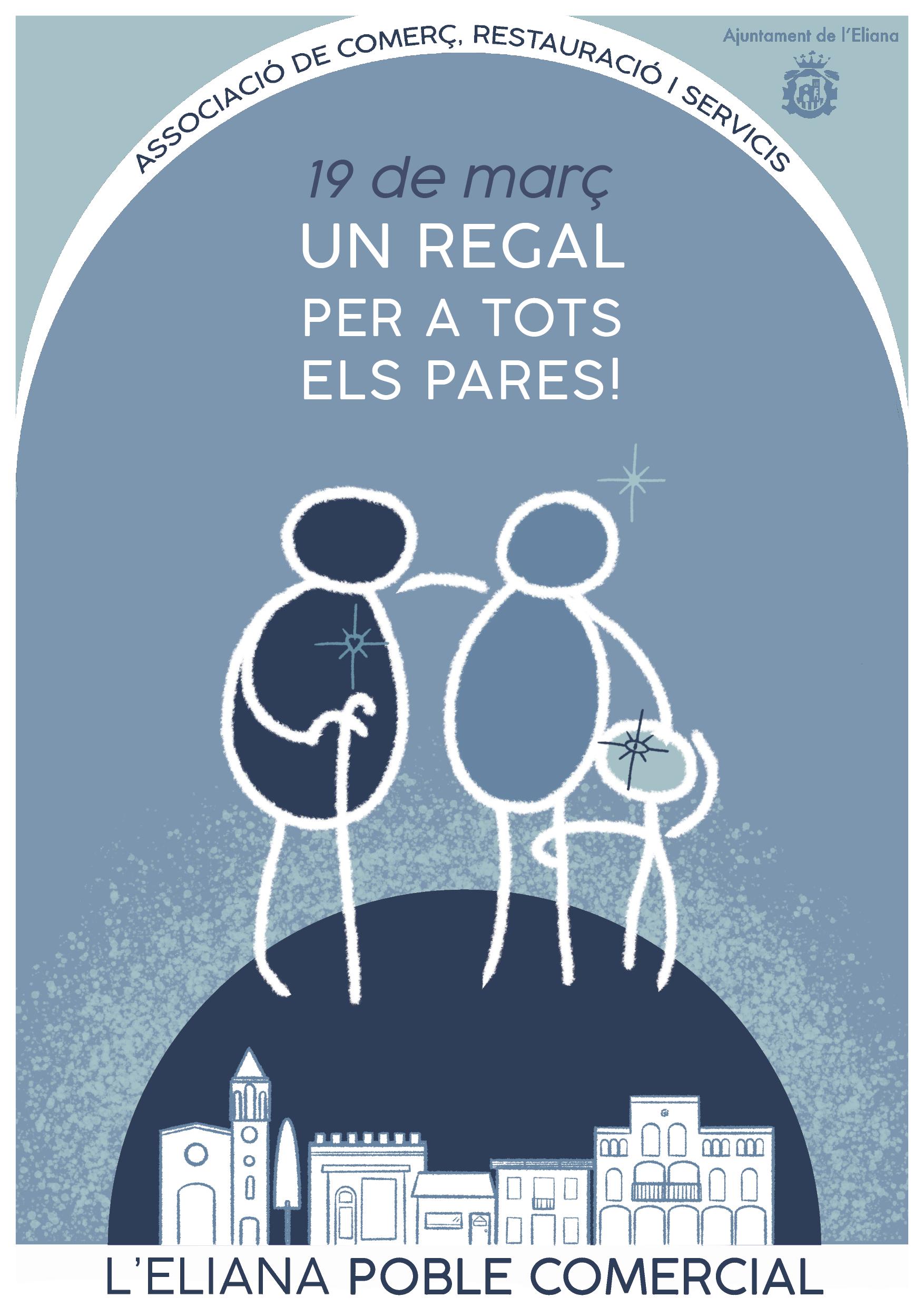 Sonia Sanmartín Ilustración Cartelería Diseño Gráfico L'Eliana Poble Comercial Día del Padre