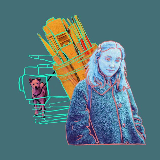 Sonia Sanmartín Ilustración Editorial Collage Digital Persona Creativa