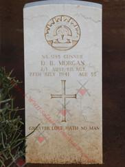 LIBYA Benghazi War Cemetery 2/1st Field Regiment NX3183 Gnr David Burford MORGAN