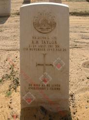EGYPT Heliopolis War Cemetery 2/24th Infantry Battalion VX25756 L/Cpl Robert Henderson TAYLOR
