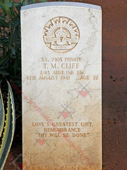 LIBYA Benghazi War Cemetery 2/43 Infantry Battalion SX7305 Pvt Thomas Miners CLIFFORD
