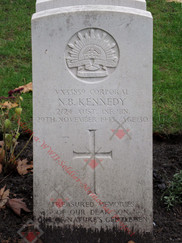 GERMANY 1939-1945 War Cemetery 2/24th Infantry Battalion VX33859 Cpl Newton Bernard KENNEDY