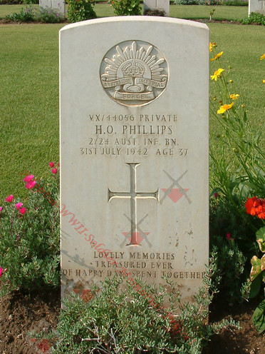 EGYPT Heliopolis War Cemetery 2/24th Infantry Battalion VX44056 Pvt Harold Otto PHILLIPS
