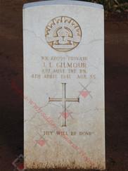 LIBYA Benghazi War Cemetery 2/17th Infantry Battalion NX22099 Pvt John Lindsay GILMOUR