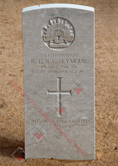 2/1st Pioneer Battalion NX24427  Pvt Robert Edward Nigel SEYMOUR