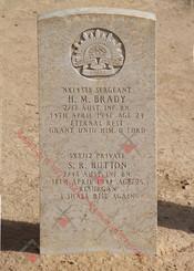 2/17 Infantry Battalion NX14388  Sgt Henry Michael BRADY (shared grave)